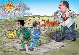 BUKA Magazin - Buka karikatura: Dva lica jednog ražnja